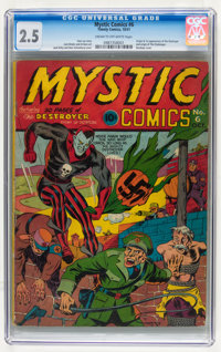 Mystic Comics #6 (Timely, 1941) CGC GD+ 2.5 Cream to off-white pages