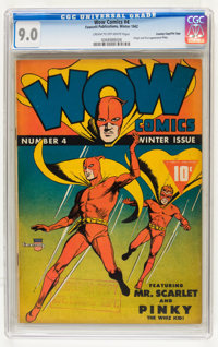 Wow Comics #4 Crowley Copy/File Copy pedigree (Fawcett, 1942) CGC VF/NM 9.0 Cream to off-white pages