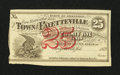 Obsoletes By State:Arkansas, Fayetteville, AR- Town of Fayetteville 25¢ 1872 Rothert 193-1. ...