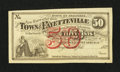 Obsoletes By State:Arkansas, Fayetteville, AR- Town of Fayetteville 50¢ 1872 Rothert 193-2. ...