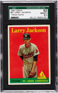 Baseball Cards:Singles (1950-1959), 1958 Topps Larry Jackson, Yellow Name #97 SGC 92 NM/MT+ 8.5....