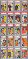 Baseball Cards:Sets, 1954 Topps Baseball Complete Set (250) - # 7 on the PSA SetRegistry. ...