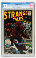 Silver Age (1956-1969):Horror, Strange Tales #77 (Marvel, 1960) CGC FN/VF 7.0 Off-white to whitepages....