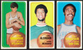Basketball Cards:Lots, 1970-71 Topps Basketball Hall of Famer Trio (3) - With MaravichRookie. ...