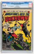 Golden Age (1938-1955):Horror, Adventures Into The Unknown #18 (ACG, 1951) CGC VF 8.0 Whitepages....