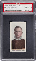 Baseball Cards:Singles (Pre-1930), 1911 M116 Sporting Life Walter Johnson PSA NM-MT 8....