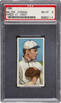 Baseball Cards:Singles (Pre-1930), 1909-11 T206 Sweet Caporal Walter Johnson, Hands At Chest PSA NM-MT8....