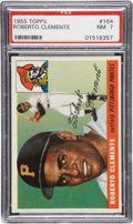 Baseball Cards:Singles (1950-1959), 1955 Topps Roberto Clemente Rookie #164 PSA NM 7....