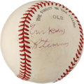 Autographs:Baseballs, 1970's Turkey Stearnes Signed Baseball. ...