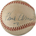 Autographs:Baseballs, 1940's Paul Waner Signed Baseball....