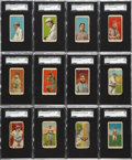 Baseball Cards:Sets, 1915 E106 American Caramel Partial Set (37/48) With Mathewson andBoth Honus Wagner cards....