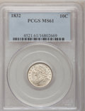 Bust Dimes: , 1832 10C MS61 PCGS. PCGS Population (7/105). NGC Census: (21/132).Mintage: 522,500. Numismedia Wsl. Price for problem free...