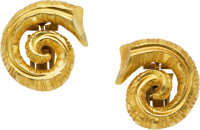 Gold Earrings, Lalaounis, Greek