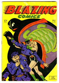 Blazing Comics #4 Double Cover (Rural Home, 1945) Condition: FN