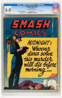 Smash Comics #42 (Quality, 1943) CGC FN 6.0 Cream to off-white pages