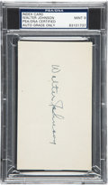 Autographs:Others, Circa 1940 Walter Johnson Signed Album Page, PSA/DNA Mint 9....