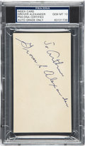 Autographs:Index Cards, Circa 1926 Grover Cleveland Alexander Signed Index Card, PSA/DNAGem Mint 10....
