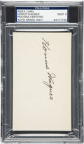 Autographs:Index Cards, 1940's Honus Wagner Signed Index Card, PSA/DNA Mint 9....