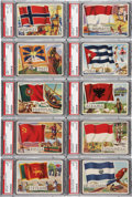 "Non-Sport Cards:Lots, 1956 Topps ""Flags of the World"" PSA-Graded Collection (14)...."