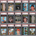 Baseball Cards:Lots, 1971 O-Pee-Chee Baseball High End PSA-Graded Collection (95). ...