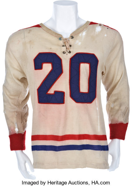 1948 49 Laurie Peterson Game Worn Jersey Pacific Coast Hockey