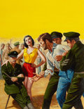 Pulp, Pulp-like, Digests, and Paperback Art, MORT KÜNSTLER (American, b. 1931). Madame Penal, Male cover,June 1959. Gouache on board. 20 x 15 in.. Signed lower righ...(Total: 2 Items)