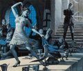 Pulp, Pulp-like, Digests, and Paperback Art, MORT KÜNSTLER (American, b. 1931). The Frauleins of RelaxationHouse, Male illustration, pages 12-13, July 1959. Gouache...(Total: 2 Items)