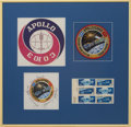 Autographs:Celebrities, Apollo-Soyuz Test Project Crew-Signed Beta Cloth Patch in Framed Display, Originally from the Personal Collection of Mission C...