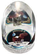 Transportation:Space Exploration, Apollo 11 Flown Kapton Foil in a Limited Edition Lucite Display....