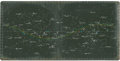 Transportation:Space Exploration, Apollo 15 Training-Used LM Lunar Orbit Star Chart....