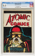 Golden Age (1938-1955):Crime, Atomic Comics #1 (Green Publishing Co., 1946) CGC VF 8.0 Cream to off-white pages....