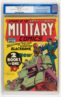 Military Comics #1 (Quality, 1941) CGC FN- 5.5 White pages