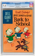 Silver Age (1956-1969):Cartoon Character, Dell Giants #35 Huey, Dewey and Louie Back to School (Dell, 1960) CGC VF- 7.5 Off-white to white pages....