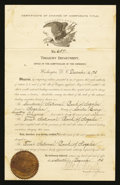 Nogales, Territory of Arizona - Certificate of Change of Corporate Title The Sandoval NB/The First NB Ch. # 6591