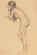 Paintings, DEAN CORNWELL (American, 1892-1960). Study of a Nude. Charcoal on paper. 23 x 15 in.. Not signed. ...