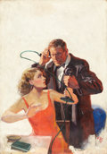 Pulp, Pulp-like, Digests, and Paperback Art, AUGUST BLESER (American, 1898-1966). Scotland Yard, pulpcover, May 1931. Oil on canvas. 40 x 28 in.. Monogrammed lower...