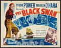 "Movie Posters:Adventure, The Black Swan (20th Century Fox, R-1952). Half Sheet (22"" X 28"")Style A. Adventure.. ..."