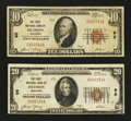 National Bank Notes:Wisconsin, Hudson, WI - $10 1929 Ty. 1 The First NB Ch. # 95. Hudson, WI - $20 1929 Ty. 1 The First NB Ch. # 95. ... (Total: 2 notes)