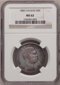 Coins of Hawaii: , 1883 50C Hawaii Half Dollar MS62 NGC. NGC Census: (45/70). PCGSPopulation (57/128). Mintage: 700,000. (#10991)...