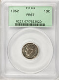 Proof Roosevelt Dimes, 1952 10C Set of Two Proof Roosevelt Dimes PR 67 PCGS. Set includes1952 10C PR 67 PCGS,1953 10C PR 68 PCGS.... (Total: 2 coins)