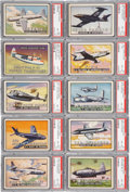 "Non-Sport Cards:Sets, 1952 Topps ""Wings"" High End PSA-Graded Collection (78). ..."