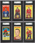 Hockey Cards:Lots, 1964-65 Topps Hockey SGC-Graded Collection (6). ...