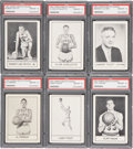 Basketball Cards:Lots, 1961 Essex Meats Hawks PSA-Graded Collection (6) With Pettit. ...