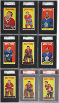 Hockey Cards:Lots, 1964-65 Topps Hockey Graded Collection (10). ...