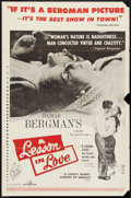 "Movie Posters:Foreign, A Lesson in Love (Janus Films, 1960). One Sheet (27"" X 41""). Foreign.. ..."