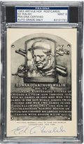 Autographs:Post Cards, 1950's Ed Walsh Signed Hall of Fame Plaque, PSA/DNA Mint 9....