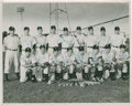 Autographs:Photos, 1949 Independence (KS) Yankees Signed Photograph with Mickey Mantle....