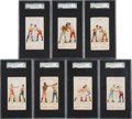 """Boxing Cards:General, 1893 N266 Red Cross """"Boxing Positions and Boxers"""" SGC-Graded Groupof (7)...."""