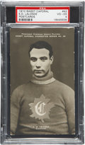 Hockey Cards:Singles (Pre-1960), 1910 Sweet Caporal Postcards Ed Lalonde #42 PSA VG-EX 4....