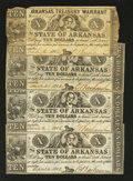 Obsoletes By State:Arkansas, (Little Rock), AR- Arkansas Treasury Warrants $10 1862 Cr. 58 Four Examples. ... (Total: 4 notes)